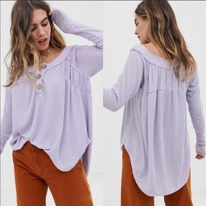 NWT Free People lilac long sleeve top XS